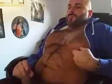 Muscular Bear Jerks Off